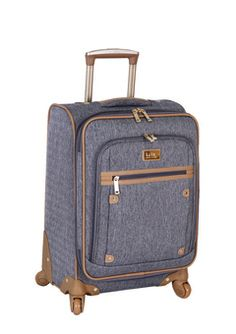ideeli | Nicole Miller Luggage sale - perfect neutral color, structure sides, deep and on casters - so excited for my new carry on ways!