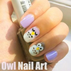 Owl Nail Art Tutorial. Learn how to do owl nails with our simple, easy, and cute owl manicure tutorial.