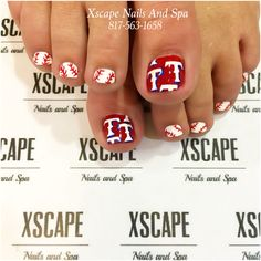 Texas Rangers toe designs