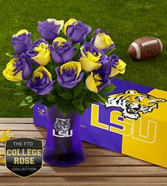 The FTD® Louisiana State University® Tigers™ Rose Bouquet