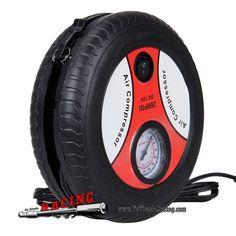 17,12€ - ENVÍO SIEMPRE GRATUITO - Mini Compresor Hinchador de Neumáticos Portátil para Coche Cargador de Mechero 260PSI DC12V - TUTIENDARACING