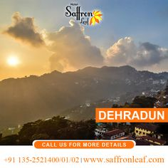 Spend your lavish time in Hotel Saffron Leaf and visit the beauty of Dehradun. visit Us at: www.saffronleaf.com Or Call Us at: +91 135-2521400/01/02