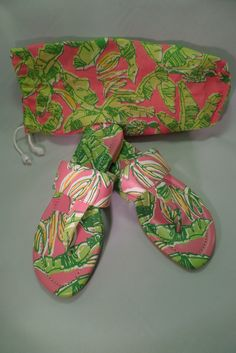 Pink and Green Lilly sandals