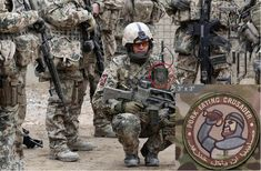 """The """"Pork Eating Crusader"""" patch is one of the more popular patches used, referring to the prohibition of consuming pork in Islam. The patch worn here by a German soldier in Afghanistan features both English as Arabic, so there will be no confusion among the intended audience. Bush Jr, Colorado College, Armed Conflict, Military News, Pop Culture References, Confederate Flag, Islamic World, Knights Templar, Magic Carpet"""