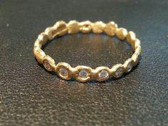 18k Gold ring set 0.11ct sih(Model Nr.R342), Engagement ring, Yellow gold, Diamonds, Designed ring, Designed jewelry, Designers, Gold ring