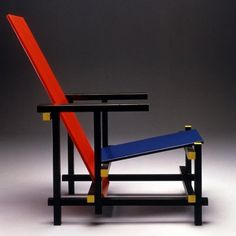 Charles rennie mackintosh hill house chambre - Chaise rouge et bleue ...