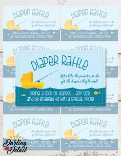 "Diaper Raffle Insert Card | Fishing Baby Shower Invitation Insert | Printable Digital Download | 4x2.5""  US$2.99  https://www.etsy.com/listing/262717389/diaper-raffle-insert-card-fishing-baby"