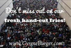 Gyrene Burger serves the best fresh, hand-cut fries.