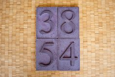 House Numbers | ShapeCrete