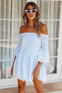 Design For Life Dress Blue