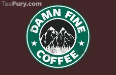 Damn Fine Coffee by Aaron A. Fimister - Shirt sold on October 6th at http://teefury.com - More by the artist at http://www.redbubble.com/people/synaptyx
