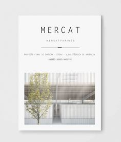 Andrés Jover. Mercat Farinós. PFC | #PFC #Memoria #Architecture #Arquitectura…