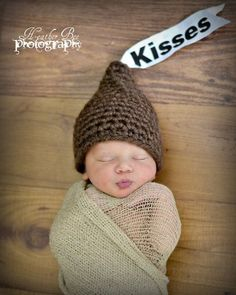79194add4d9 Kisses Crochet Newborn Hat by rosalyn Newborn Photos