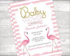 Flamingo Baby Shower Invitation and Book Request Printable Jordan Baby Shower, Baby Shower Niño, Girl Shower, Shower Party, Baby Shower Parties, Baby Shower Themes, Shower Ideas, Flamingo Baby Shower, Flamingo Party