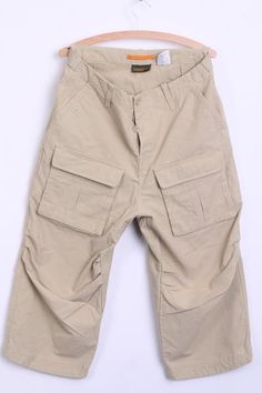 Timberland Mens 34 Trousers Cargo Beige Cotton Combat Pockets - RetrospectClothes