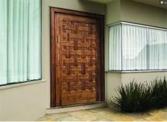 Modelos em madeira trançada Garage Doors, Outdoor Decor, Home Decor, Wooden Gates, Wooden Window Boxes, Cabinet Knobs, Facades, Houses, Homemade Home Decor
