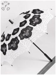 Gothic Lolita battenburg lace parasol