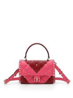 Valentino Garavani - Quilted Leather Two-Tone Shoulder Bag Trendy Handbags, Fashion Handbags, Tote Handbags, Purses And Handbags, Luxury Bags, Luxury Handbags, Ysl, Givenchy, Chanel