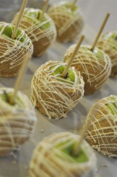 Beautiful Caramel White Chocolate Apples - Click for Recipe