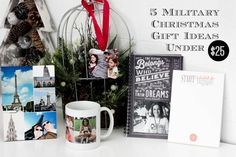 """5 Military Christmas Gift Ideas Under $25. Giving personalized gifts is a way to make family members feel special and """"at home"""" even when you're miles apart! #sponsored @TinyPrints"""