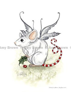Amy Brown - Holiday Faery Mouse