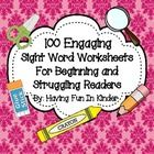 The kiddos in your classroom are sure to be engaged while learning their sight words.  These worksheets will have them busy coloring, tracing, find...