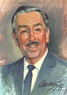 Portrait of Walt Disney by Eddie Martinez (From WaltDisneyLand on Facebook)