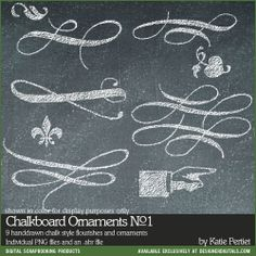 Chalkboard Ornaments Photoshop Brushes