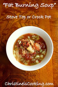 """ChristineIsCooking.com: """"Fat Burning Soup"""" (OAMC) Stove top or Crock Pot"""