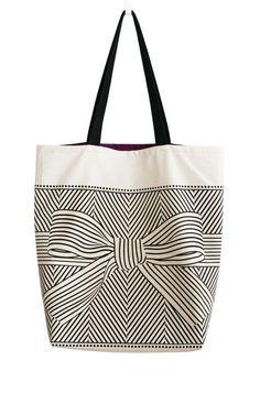 723e27df117 canta Sacs Design, Diy Sac, Big Bows, Me Bag, Large Canvas Tote