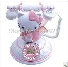 novelty items antique classic caller ID telephone CID beautiful hello Kitty toys for children home decoration kit _ {categoryName} – AliExpress Mobile Version – - Modern Hello Kitty Zimmer, Hello Kitty Haus, Hello Kitty Bedroom, Hello Kitty Kitchen, Hello Kitty Stuff, Hello Kitty Products, Hello Kitty Merchandise, Hello Kitty Themes, Hello Kitty Room Decor