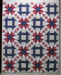 Star block + churn dash. Contains link to blog post with free PDF pattern.