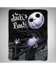 Party points to ME! I just found the Nightmare Before Christmas 'Pinstripe Jack' Fleece Blanket from Spencer's. Visit their mobile website to get this item and more like it.