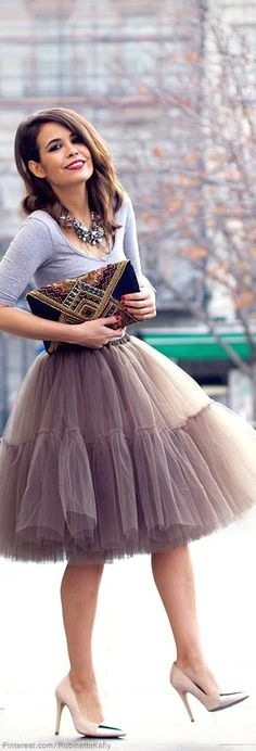 I want a tulle skirt so bad. I love a good blush color though
