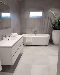 Bathroom decor, Bathroom decoration, Bathroom DIY and Crafts, Bathroom Interior design Ensuite Bathrooms, Bathroom Toilets, Bathroom Renovations, Master Bathroom, Bathroom Grey, Luxury Bathrooms, Light Grey Bathrooms, Bathroom Faucets, Brick Bathroom