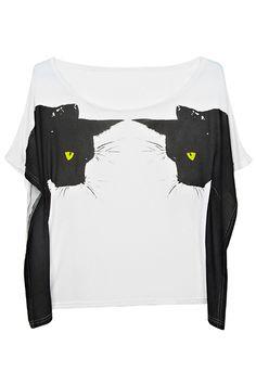 #romwe Werewolves White T-shirt