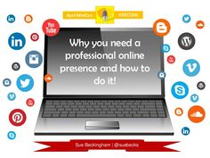 Why you need a professional online presence and how to do it #RSCON5 by Sue Beckingham via slideshare. Very interesting read!