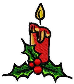 Christmas candle free embroidery design 4 - Christmas free embroidery - Machine embroidery community