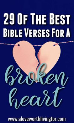 Seasons of heart breaks find us all. To love is to take the risk. When we find ourselves with broken hearts though, we can rest in the promises from the Father found in Scripture. These Bible verses for a broken heart are sure to lift your spirits and bring you comfort as you lean into the sweet presence of the Father. Best Bible Verses, Bible Quotes, Bible Scriptures, Healing A Broken Heart, Prayer For Broken Heart, Healing Verses, Shattered Heart, Christian Quotes, Christian Dating