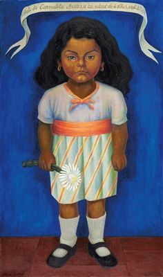 Available for sale from Gary Nader, Diego Rivera, Retrato de Carmelita Aviles Oil on canvas, 39 × 23 in Diego Rivera Art, Arte Latina, Mexican Artwork, Frida And Diego, Social Realism, Writing Art, Hand Writing, Mexico Art, Mexican Artists