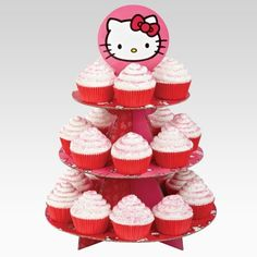 Cupcake Stand - Hello Kitty - Holds 24