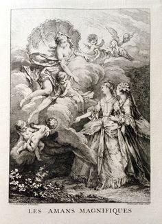 Les amans magnifiques - Molière - gravé par Laurent CARS d'après François BOUCHER - MAS Estampes Anciennes - Antique Prints since 1898