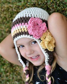 toddler girl hat baby hat girls hat crochet by VioletandSassafras, $20.00