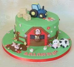 tractor farmyard cake sugar pie - Google Search                                                                                                                                                     More