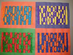 Cassie's Corner: 2nd Grade Op Art - Hidden Shapes