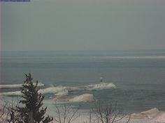 Webcam of Holland Channel on Lake Michigan from Spyglass Condos