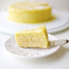 Orange Crepe Cake - layers of cakebatter and orange curd baked Crepe Recipes, Dessert Recipes, Desserts, Food Cakes, Cupcake Cakes, Cupcakes, Oui Merci, Chilean Recipes, Chilean Food