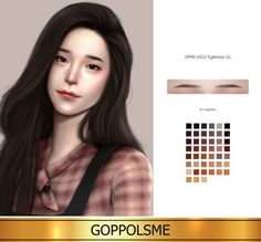 GOLD F-Eyebrows G2 by GOPPOLS Me for The Sims 4