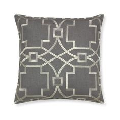 Williams-Sonoma Medallion Embroidered Linen Pillow Cover ($80) ❤ liked on Polyvore featuring home, home decor, throw pillows, metallic throw pillows, metallic home decor, medallion throw pillows, patterned throw pillows and linen throw pillows