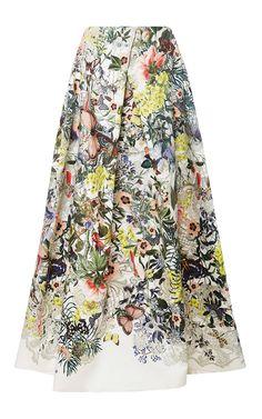 Monique Lhuillier Floral Botanical Ball Skirt